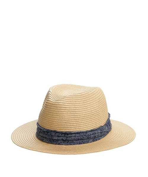 Braided Paper Panama Fedora Hat by San Diego Hat Company in Chi-Raq