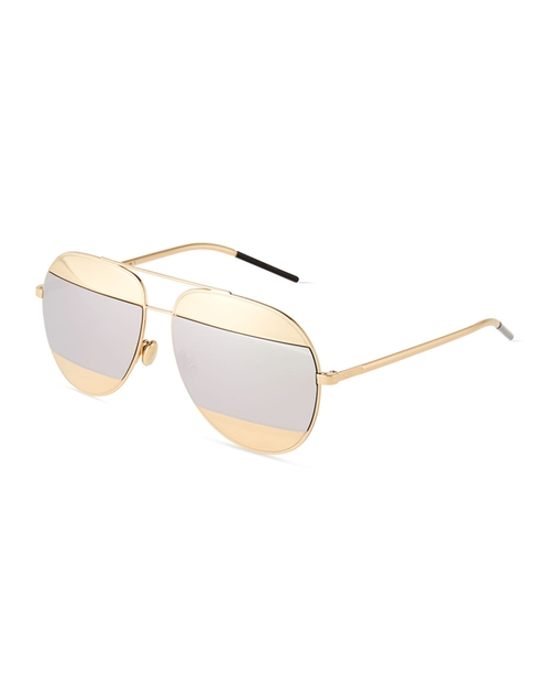 DiorSplit Two-Tone Metallic Aviator Sunglasses by Dior in Keeping Up With The Kardashians - Season 12 Episode 12