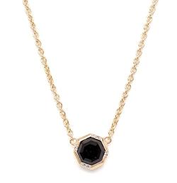 Black Onyx Octagon Drop Necklace by Rachael Ryen in Pretty Little Liars