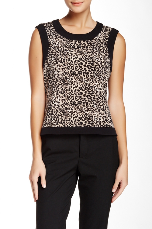 Leopard Print Tank Top by Vince Camuto in How To Get Away With Murder - Season 2 Episode 7