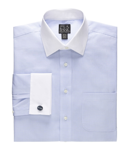 French Cuff Pattern Dress Shirt by Jos. A. Bank in Dope