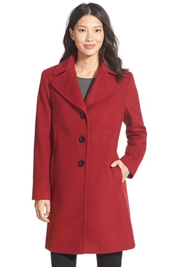 Wool Blend Walking Coat by Larry Levine in Love Actually