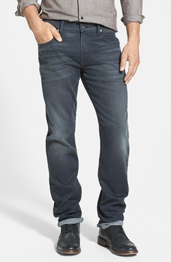 'The Straight' Tapered Straight Leg Jeans by 7 For All Mankind in Sleeping with Other People
