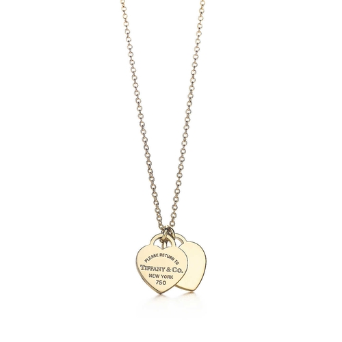Mini Double Heart Tag Pendant by Return To Tiffany in The Proposal