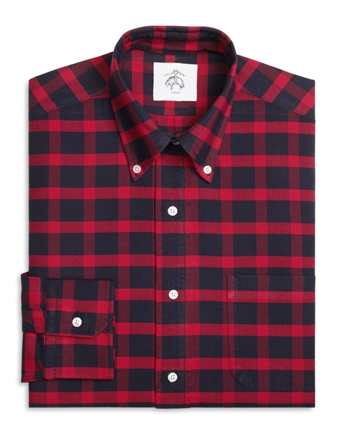 Plaid Button Down Shirt by Brooks Brothers in Scream Queens