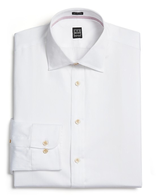 Diagonal Twill Dress Shirt by Ike Behar in Secret in Their Eyes