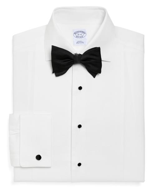 Slim Fit Bib-Front Spread Collar Tuxedo Shirt by BROOKS BROTHERS in Jersey Boys