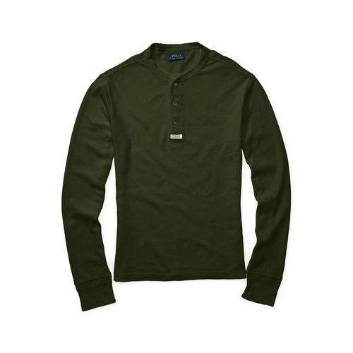 Cotton Henley Shirt by Ralph Lauren in The Choice