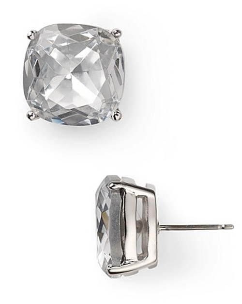 Small Square Stud Earrings by Kate Spade New York in The Other Woman