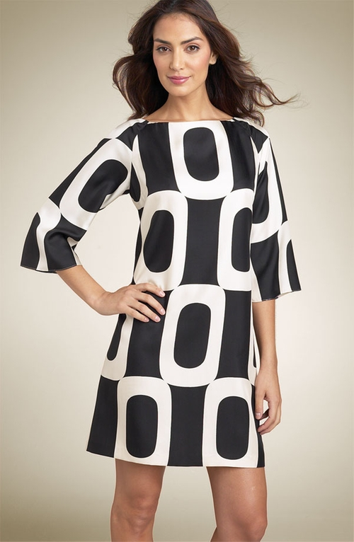 Circle Print Silk Twill Dress by Maggy London in Sex and the City