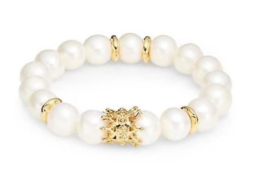 Pearl & Crown Stretch Bracelet by Aviva Carmy in The Other Woman