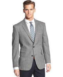 Wool-blend Herringbone Trim-Fit Sport Coat by Tommy Hilfiger in While We're Young