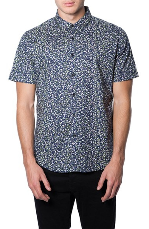 'Wilder Mind' Floral Print Woven Shirt by 7 Diamonds in The Flash - Season 2 Episode 10