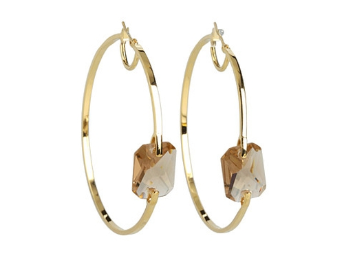 Core Ears Stone Center Hoop Earrings by Vince Camuto in The DUFF