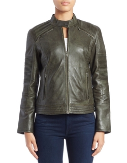 Moto Leather Jacket by 7 For All Mankind  in The Flash