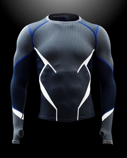 "Men's ""Quicksilver"" Seamless Long Sleeve Compression Shirt by Alexandra Byrne (Costume Designer) and Under Armour in Avengers: Age of Ultron"