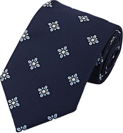 Floral Jacquard Necktie by Fairfax in Suits
