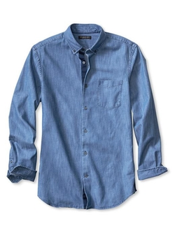 Non-Iron Denim Shirt by Banana Republic in Cabin in the Woods