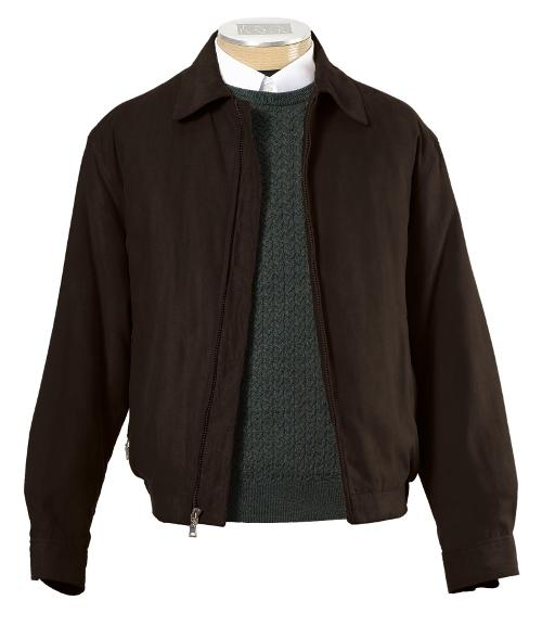 Micro-Suede Zip-Out Bomber Jacket by Jos. A. Bank in Jersey Boys