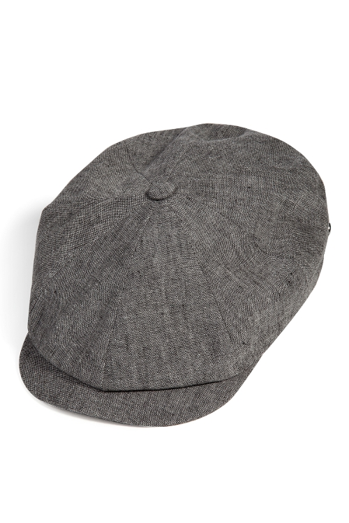 Linen Newsboy Cap by Baldessarini in Entourage
