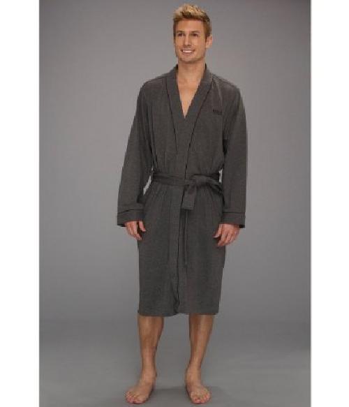 Men's Kimono Robe, Charcoal by HUGO BOSS in Transcendence