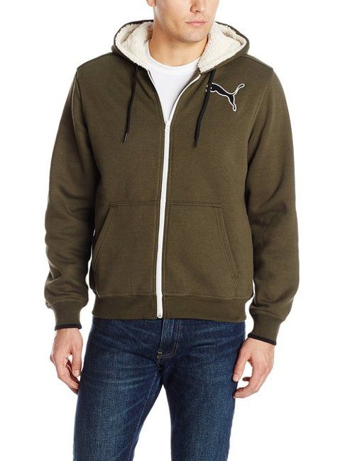 Men's Sherpa Full-Zip Hooded Jacket by Puma in Vice
