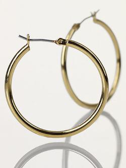 Small Gold Hoop Earrings by Ralph Lauren in Contraband