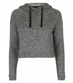 Knit Crop Lounge Hoodie by Topshop in The Flash