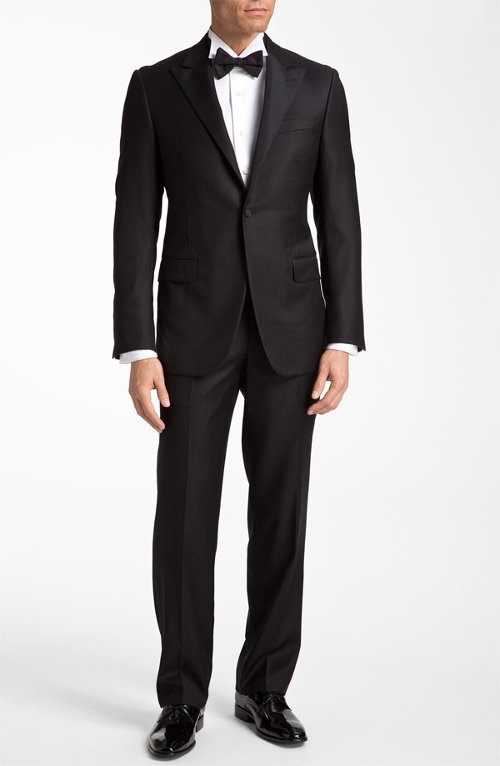 Worsted Wool Tuxedo Suit by Hickey Freeman in Mission: Impossible - Rogue Nation