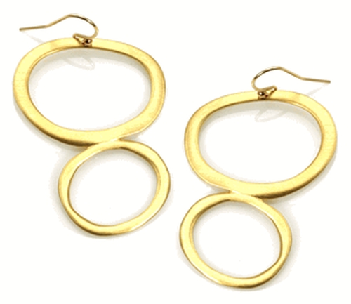Large Double Oval Vermeil Earrings by Philippa Roberts in Sex and the City