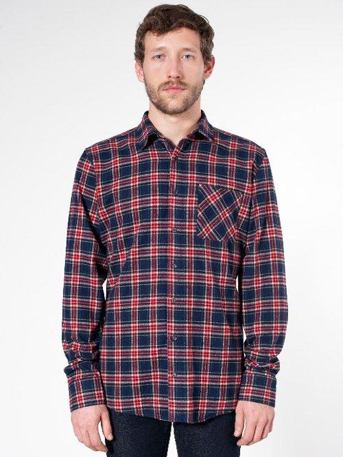 Tartan Plaid Flannel Shirt by American Apparel in McFarland, USA