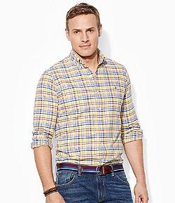 Big & Tall Classic-Fit Plaid Oxford Shirt by Polo Ralph Lauren in Lee Daniels' The Butler