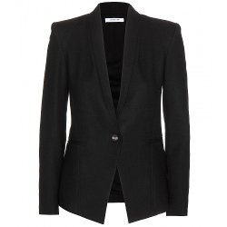 Scrunch Wool Blazer by Helmut Lang in Spy