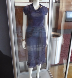 Custom Made Blue Cap Sleeve Dress by Joanna Johnston (Costume Designer) in Allied