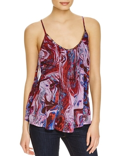 Marble Print Silk Tank Top by Ella Moss in Bad Moms