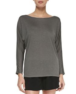 Long-Sleeve Mesh Top by Vince in Addicted