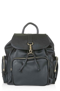 'Balham' Zip Pocket Backpack by Topshop in The Forest
