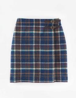 British Tweed Kilt Skirt by Boden in Supergirl