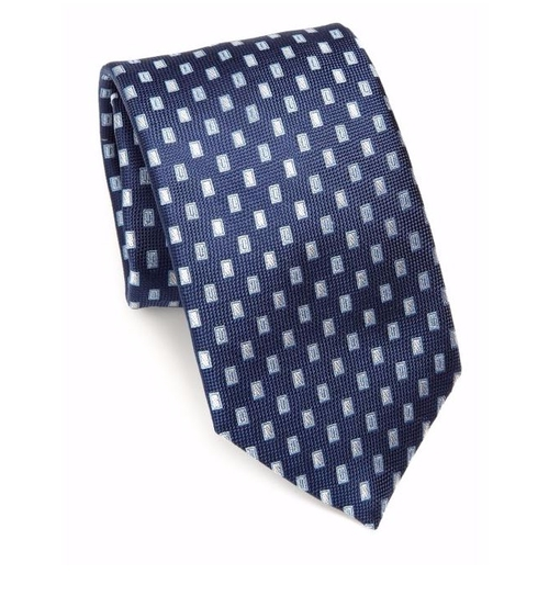 Floating Squares Silk Tie by Saks Fifth Avenue Collection in Jason Bourne