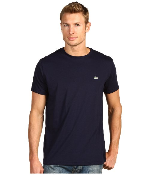 Short-Sleeve Pima Jersey Crewneck T-shirt by Lacoste in While We're Young