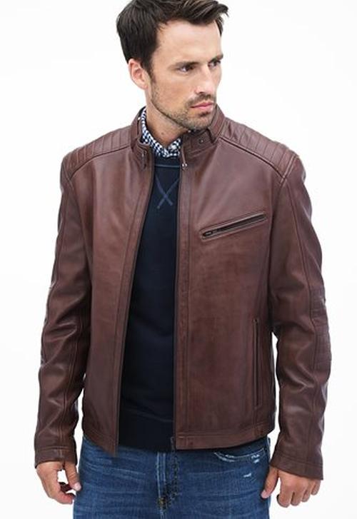Blackburn Lamb Leather Moto Jacket by Danier in The Flash - Season 2 Episode 8