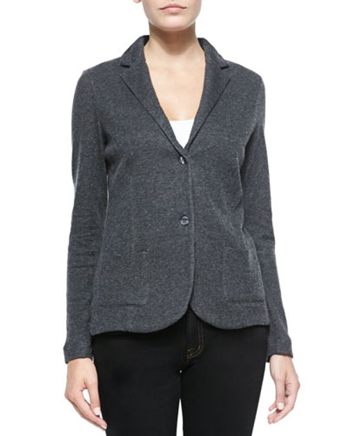 Two-Button Cotton-Blend Blazer by Majestic Paris for Neiman Marcus in If I Stay