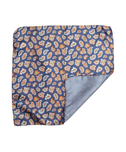 Paisley Silk Reversible Pocket Square by Daniel Dolce in Empire - Season 2 Episode 1