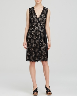 Julianna Two Lace Wrap Dress by Diane Von Furstenberg in Billions
