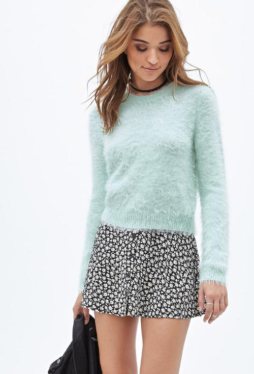 Fuzzy Knit Sweater by Forever21 in Neighbors