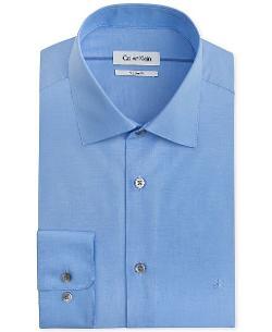 Liquid Cotton Solid Dress Shirt by Calvin Klein in Savages