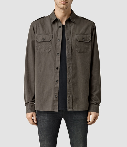 Pioneer Shirt by Allsaints in Empire - Season 2 Episode 8