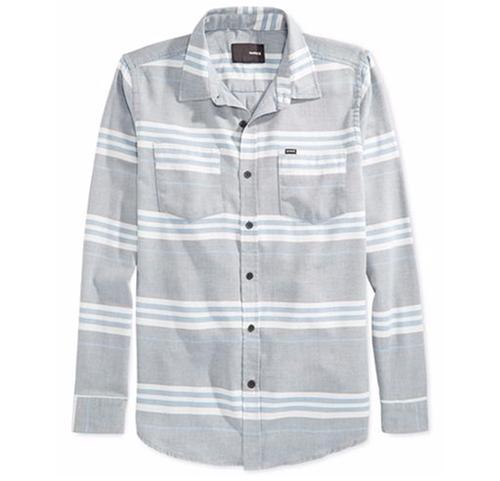 Debate Burnout Stripe Long-Sleeve Shirt by Hurley in Modern Family - Season 7 Episode 21