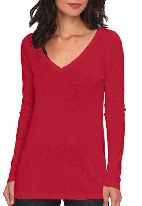 Long Sleeve Slub V Neck T-Shirt by Michael Stars in Quantico - Season 1 Episode 10