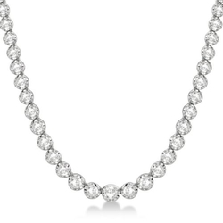 Diamond Eternity Tennis Necklace by Allurez in Atonement